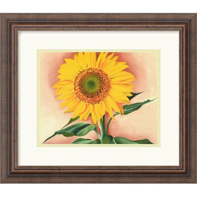 A Sunflower from Maggie, 1937 by Georgia O'Keeffe Framed Fine Art Print - 14.18