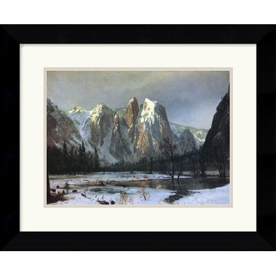 "Amanti Art Cathedral Rock Yosemite by Albert Bierstadt Framed Fine Art Print - 18.62"" x 22.62"""