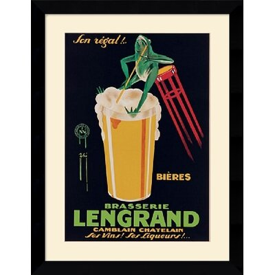 "Amanti Art Lengrand Brewery by G. Piana Framed Fine Art Print - 24.87"" x 31.99"""