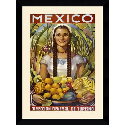 Senorita with Fruit Framed Art Print Framed Decorative Art Print - 33.37