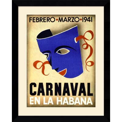 Carnaval, Habana, 1941 Framed Art Print Framed Decorative Art Print - 31.62