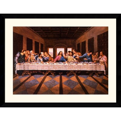 "Amanti Art Last Supper by William Ternay Framed Fine Art Print - 31.62"" x 40.99"""