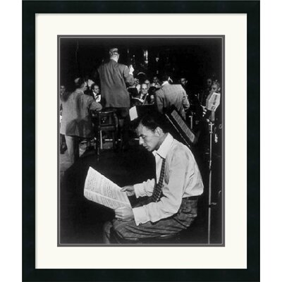 "Amanti Art Frank Sinatra by William P. Gottlieb Framed Fine Art Print - 26"" x 22"""