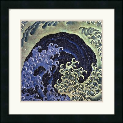 Amanti Art Feminine Wave Framed Art Print by Katsushika Hokusai