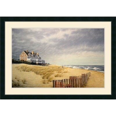 'Beach House' by Daniel Pollera Framed Painting Print