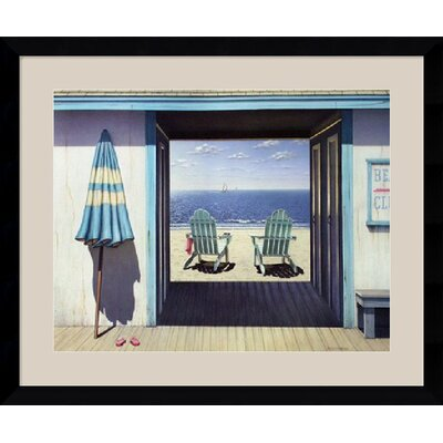 "Amanti Art The Beach Club by Daniel Pollera Framed Fine Art Print - 30.62"" x 36.62"""