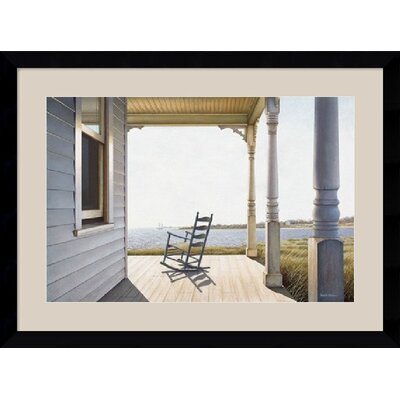 "Amanti Art Snug Harbor by Daniel Pollera Framed Art Print - 28.62"" x 38.62"""