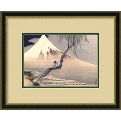 Amanti Art Boy on Mount Fuji Framed Print by Katsushika Hokusai