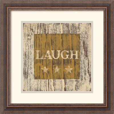 Amanti Art 'Laugh' by Warren Kimble Framed Graphic Art