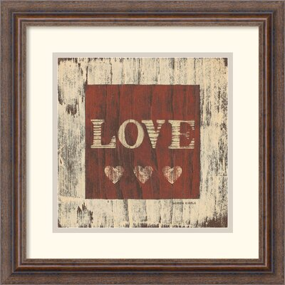 Amanti Art Love Framed Print by Warren Kimble