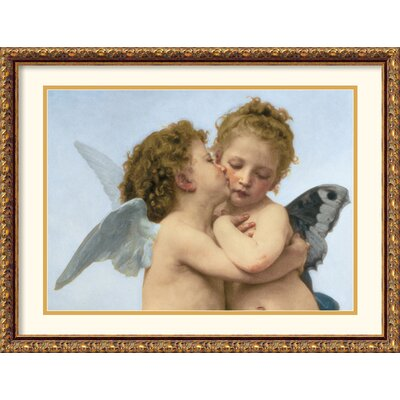 Amanti Art The First Kiss (Detail) Framed Print by William Adolphe Bouguereau