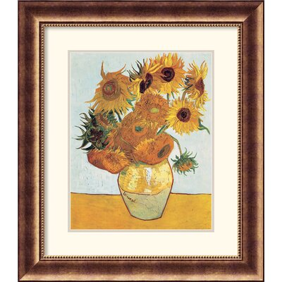 Sunflowers on Blue 1888 Framed Print by Vincent Van Gogh