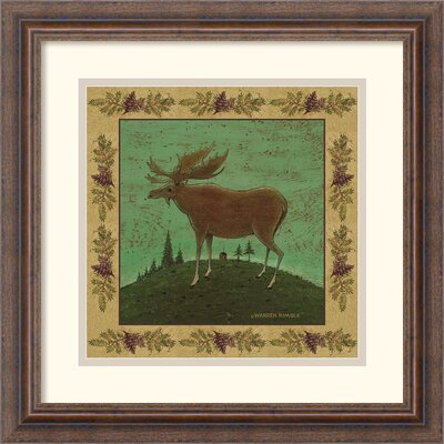 'Folk Moose' by Warren Kimble Framed Painting Print