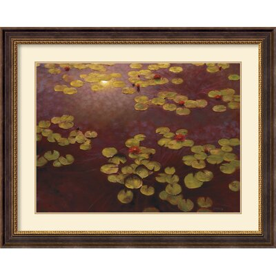 Amanti Art Lilies and Light Framed Print by Greg Singley