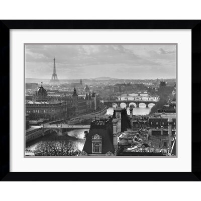 Amanti Art River Seine and the City of Paris Framed Print by Peter Turnley