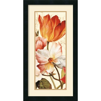 Amanti Art Poesie Florale Paneal I Framed Print by Lisa Audit