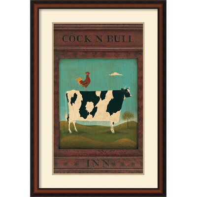 Amanti Art Cock N Bull Framed Print by Warren Kimble