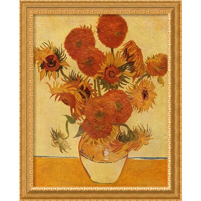 Sunflowers, 1888 Framed Print Wall Art