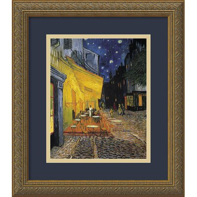 Cafe Terrace at Night by Vincent Van Gogh, Framed Print Art - 16.12
