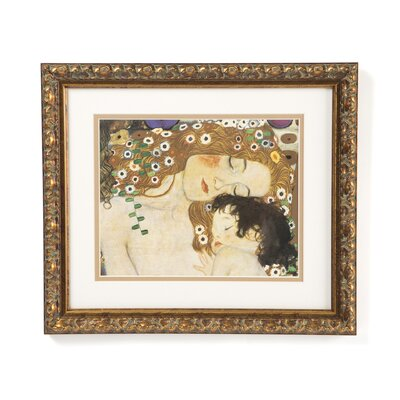 Three Ages of Woman-Mother and Child (Detail IV) by Gustav Klimt, Framed Print Art - ...