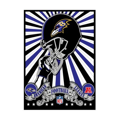 "Artissimo Designs NFL Baltimore Ravens Art 22"" x 28"" Canvas Art"
