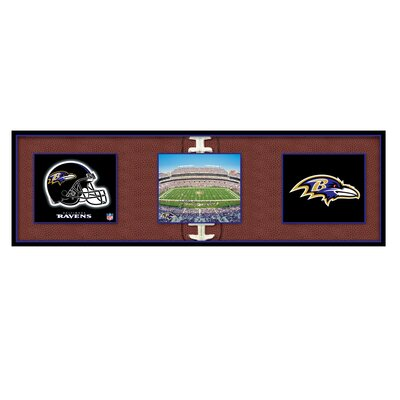 Artissimo Designs NFL Baltimore Ravens Tripanel Canvas Art