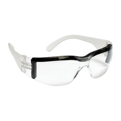 Bulldog Single Wrap Around Safety Glasses with Soft Foam Seal