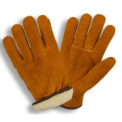 Cordova Boa Pile Lined Split Cow Driver Glove in Russett - Large