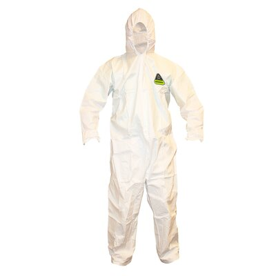 Cordova Defender II Microporous Coverall Attached Hood, Boots & Ankles Elastic Waist Wrists Zipper Front - XL