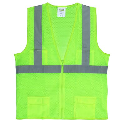 Hi Vis Reflective Safety Vest in Lime Green (Class 2) - Size 2XL