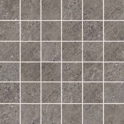 American Olean Allora Unpolished Porcelain Mosaic Tile in Argento