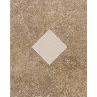 "American Olean Carriage House 10"" x 8"" Glazed Wall Tile Accent with Diamond Cutout in Buckskin"