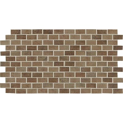 "American Olean Costa Rei 24"" x 12"" Brick Joint Mosaic in Terra Marrone"