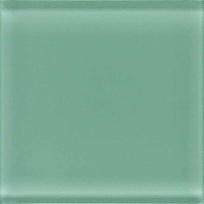 "American Olean Legacy Glass 12"" x 12"" Glazed Solid Mosaic Tile in Palm"