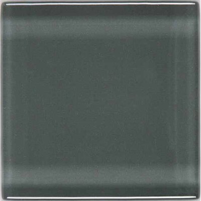 "American Olean Legacy Glass 2"" x 2"" Solid Mosaic Tile in Pewter"
