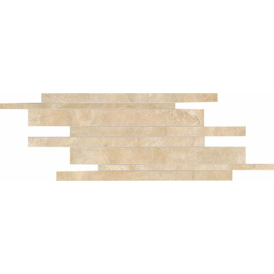 Siena Springs Random Sized Colorbody Porcelain Linear Brick Joint Mosaic in Cascade