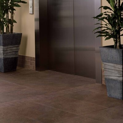 "American Olean Allora 17 11/16"" x 17 11/16"" Unpolished Porcelain Mosaic Tile in Marrone"