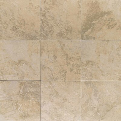 "American Olean Amber Valley 3"" x 3"" Glazed Porcelain Floor Tile in Millstone Beige"