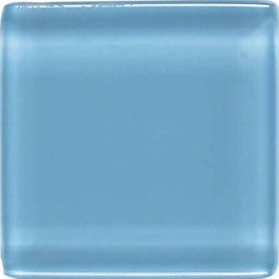 "American Olean Legacy Glass 1"" x 1"" Glazed Solid Wall Mosaic in Powder"