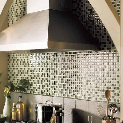 "American Olean Legacy Glass 1"" x 1"" Glazed Wall Mosaic in Green Blend"