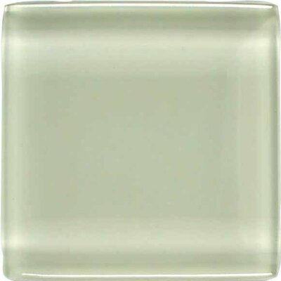 "American Olean Legacy Glass 1"" x 1"" Glazed Solid Wall Mosaic in Celedon"