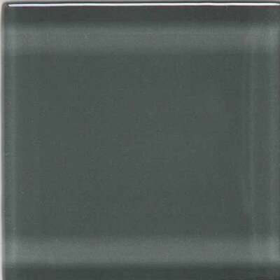 "American Olean Legacy Glass 4-1/4"" x 4-1/4"" Glazed Field Tile in Pewter"