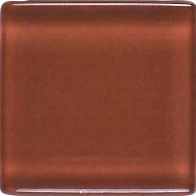 "American Olean Legacy Glass 4-1/4"" x 4-1/4"" Glazed Field Tile in Coral"