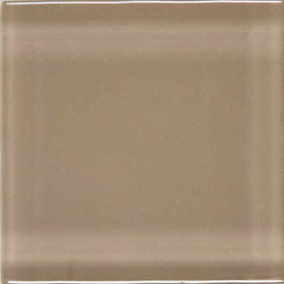 "American Olean Legacy Glass 4-1/4"" x 4-1/4"" Glazed Field Tile in Dune"