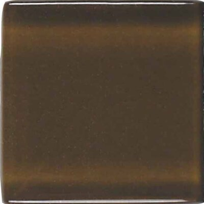 "American Olean Legacy Glass 4-1/4"" x 4-1/4"" Glazed Field Tile in Sable"