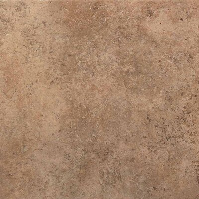 "American Olean Vallano 18"" x 18"" Glazed Field Tile in Milk Chocolate"