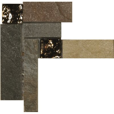 "Emser Tile Bombay 3"" x 3"" Floor Listello Corner in Multicolor"