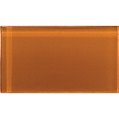 "Emser Tile Lucente 3"" x 6"" Glossy Field Tile in Cinnamon"