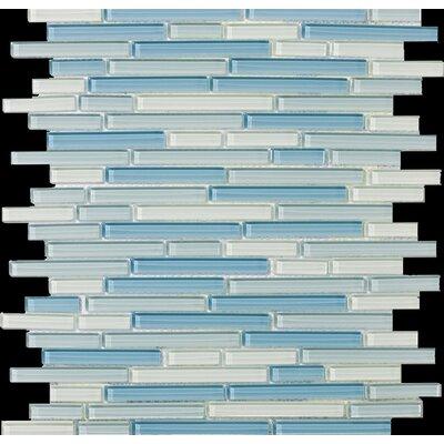 Emser Tile Lucente Random Sized Glossy Mosaic Pattern Blend in Emisfero