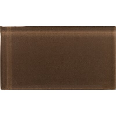 "Emser Tile Lucente 3"" x 6"" Glossy Field Tile in Mulberry"